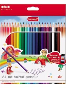 Oboustranné pastelky - sada 12 ks/ 24 barev