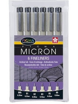 Pigma Micron® sada 6 ks