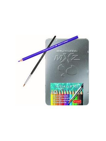 bruynzeel® Akvarelové pastelky mXz - sada 12 ks.