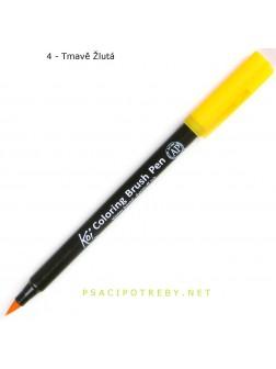 Akvarelové štětcové pero Koi® - tmavá žlutá