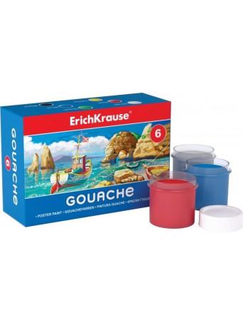 Erich Krause® Kvašové barvy 20 ml - sada 6 barev