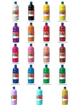 Školní plakátové barvy - jednotlivě všech 19 barev