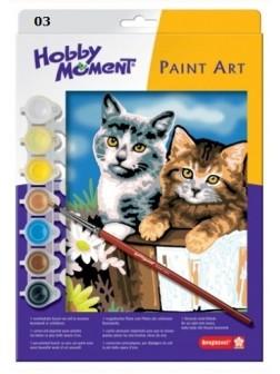 Malování podle čísel - Dvě kočky v košíku