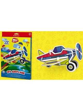 Erich Krause® Omalovánky 3D puzzle - letadlo