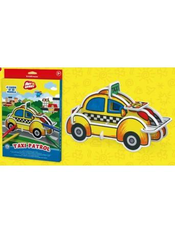 Erich Krause® Omalovánky 3D puzzle - taxi