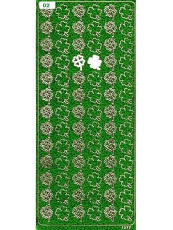 Peel Off´s Original 3D - Nálepka 3D perleťová zelená- Čtyřlístky