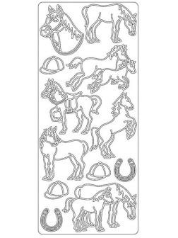 Nálepky 3D Hnědá - Koně