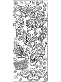 Nálepky 3D různé barvy - Velcí motýli
