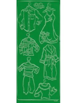 Nálepky 3D Zelená - Různé oblečení