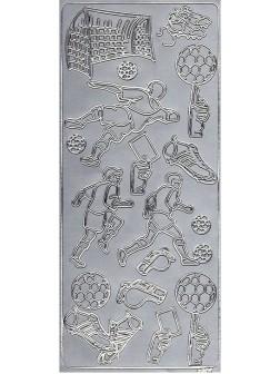 Nálepky 3D Stříbrná - Fotbalisté