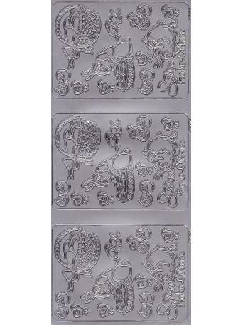 Peel Off´s Original 3D - Nálepky 3D Stříbrná - Velikonoční