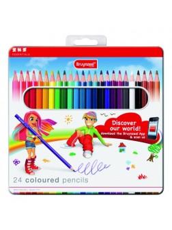 Pastelky Essentials - sada 24 barev v kovové etuji