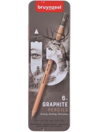 bruynzeel® Grafit Expression - sada 6 ks
