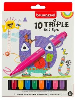 bruynzeel® Trojhranné fixy - sada 10 ks.