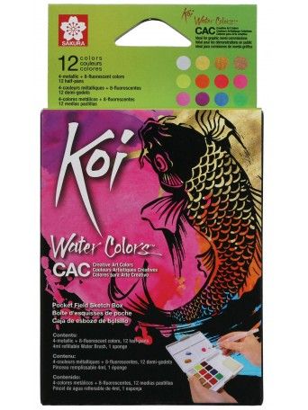 Sakura® Akvarel Koi Umělecká Perleťová sada 12 barev