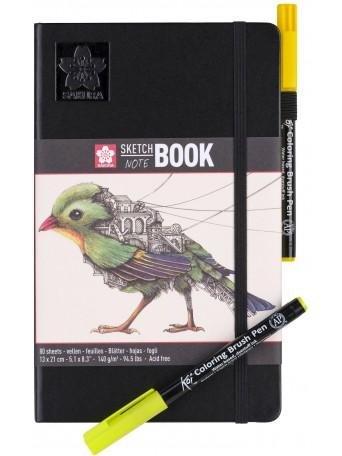 Sakura® sketch/note book 13x21cm 80 str. Krémově Bílý Papír 140g