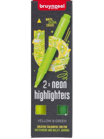 Neonové Zvýrazňovače - sada 2 barvy