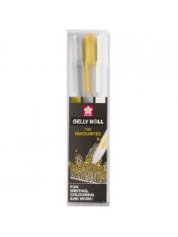 Sakura® Zentangle® sada na Černý papír - 3 ks. Gelly Roll