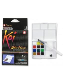 Akvarelové barvy Koi® do plenéru