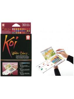 Akvarelové barvy Koi® do plenéru 30
