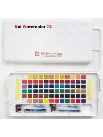 SakuraKoi® Water Colors / Akvarelové barvy sada 72 barev